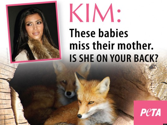 PETA Attacks Kim Kardashian For Wearing Fur