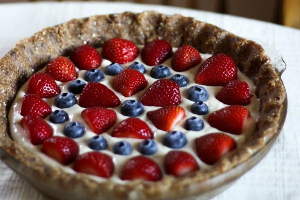 Summer Berry Cashew Cream Pie