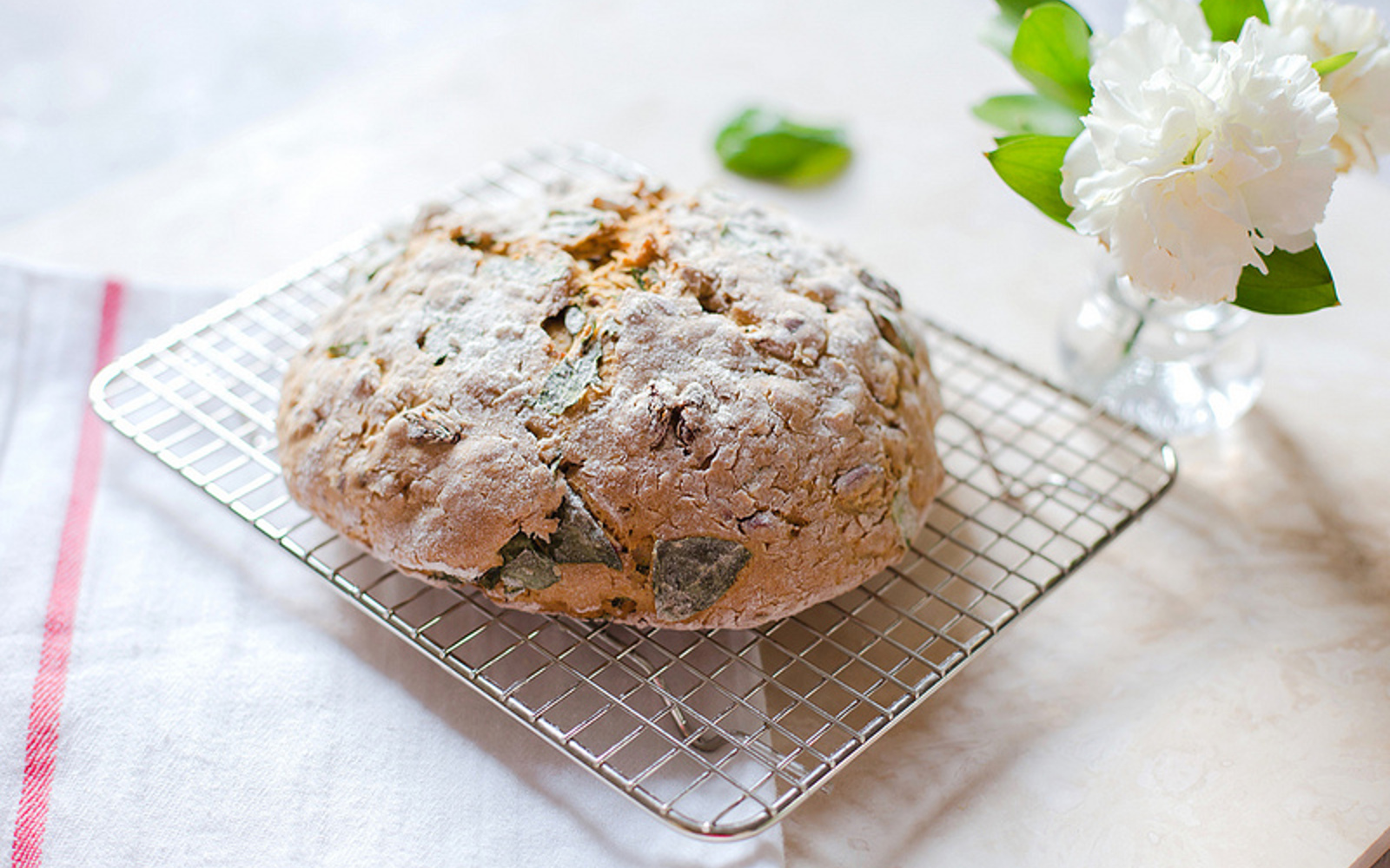 Almond, Raisin, and Basil Soda Bread [Vegan] | One Green ...