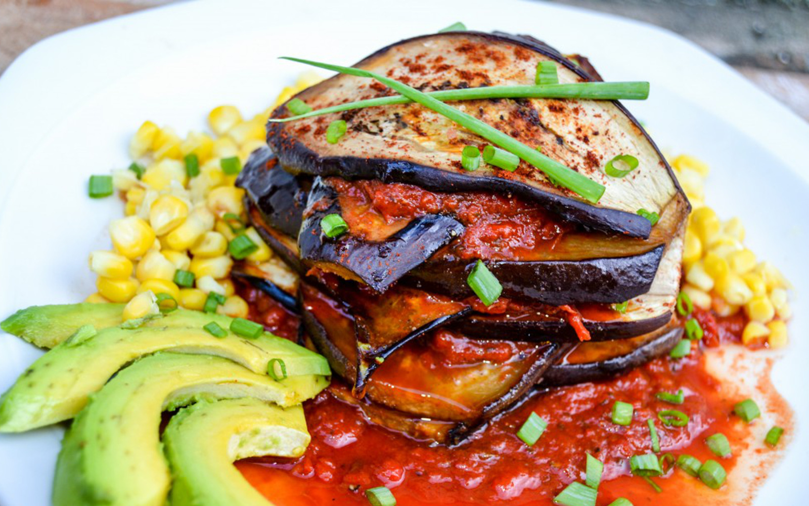 grilled eggplant recipes grilled eggplant stack with roasted pepper sauce 30259