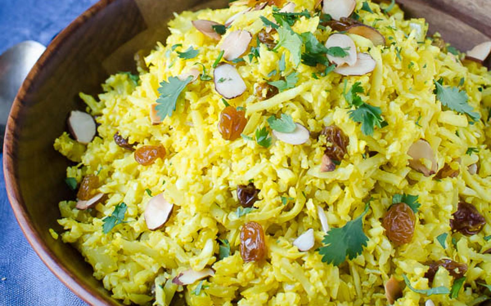 Curried Cauliflower Rice Pilaf [Vegan] | One Green Planet