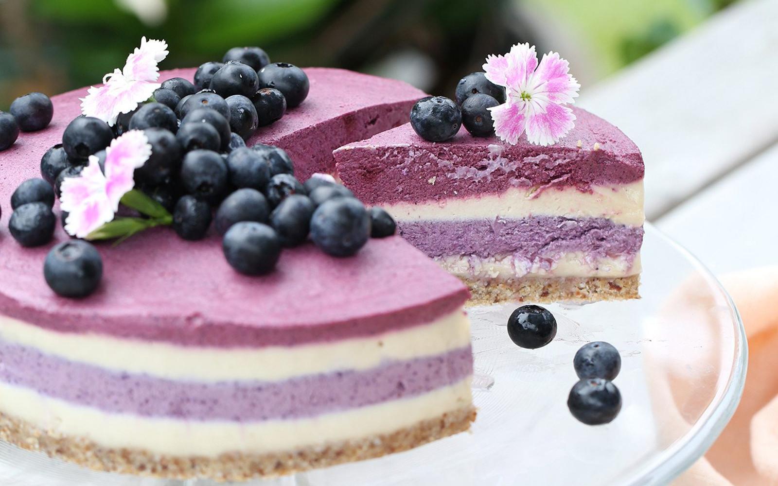 Raw Blueberry Beet Cheesecake Vegan Gluten Free One
