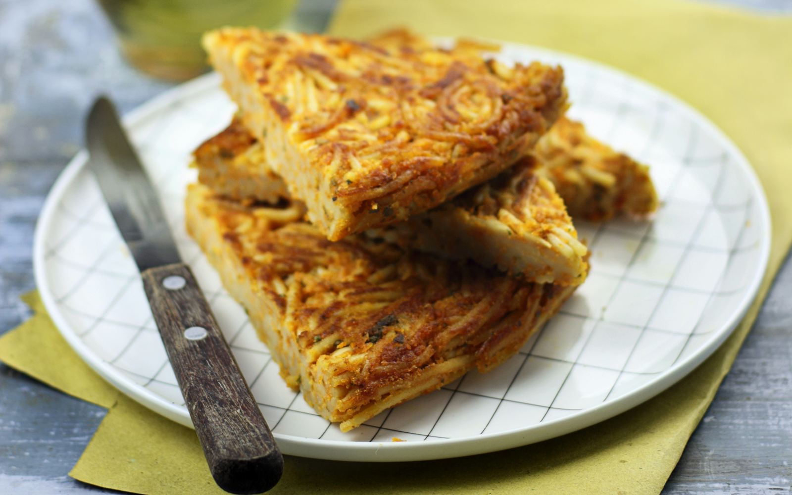 Pasta Frittata [Vegan, Gluten-Free] | One Green Planet