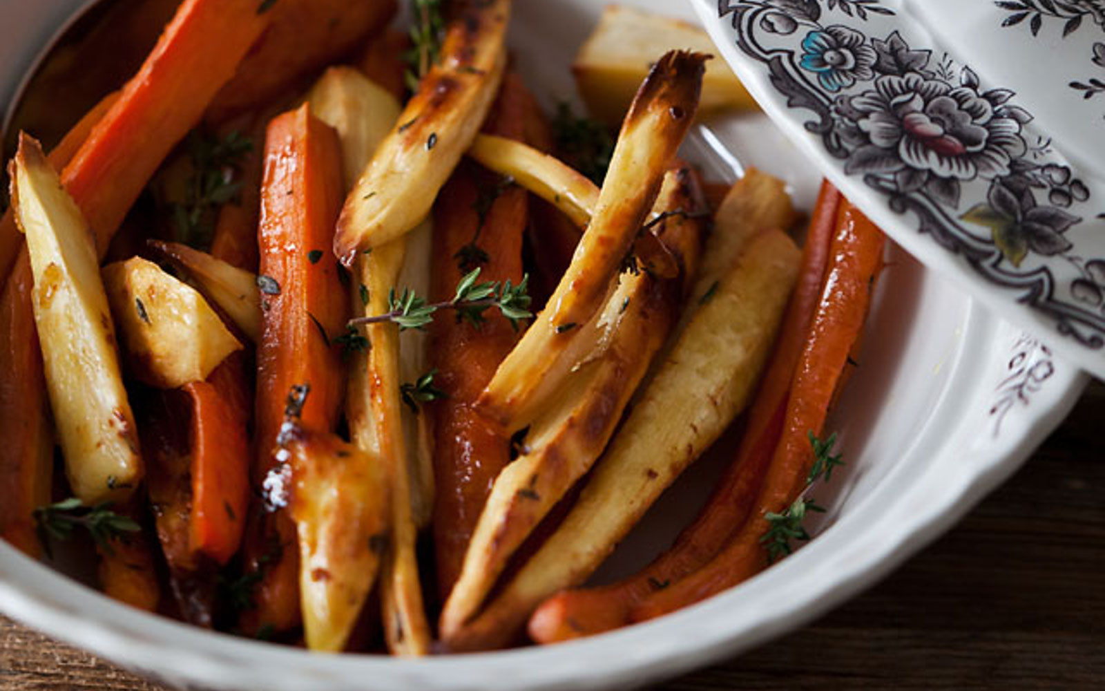Maple-Thyme Roasted Parsnips And Carrots [Vegan, Grain ...