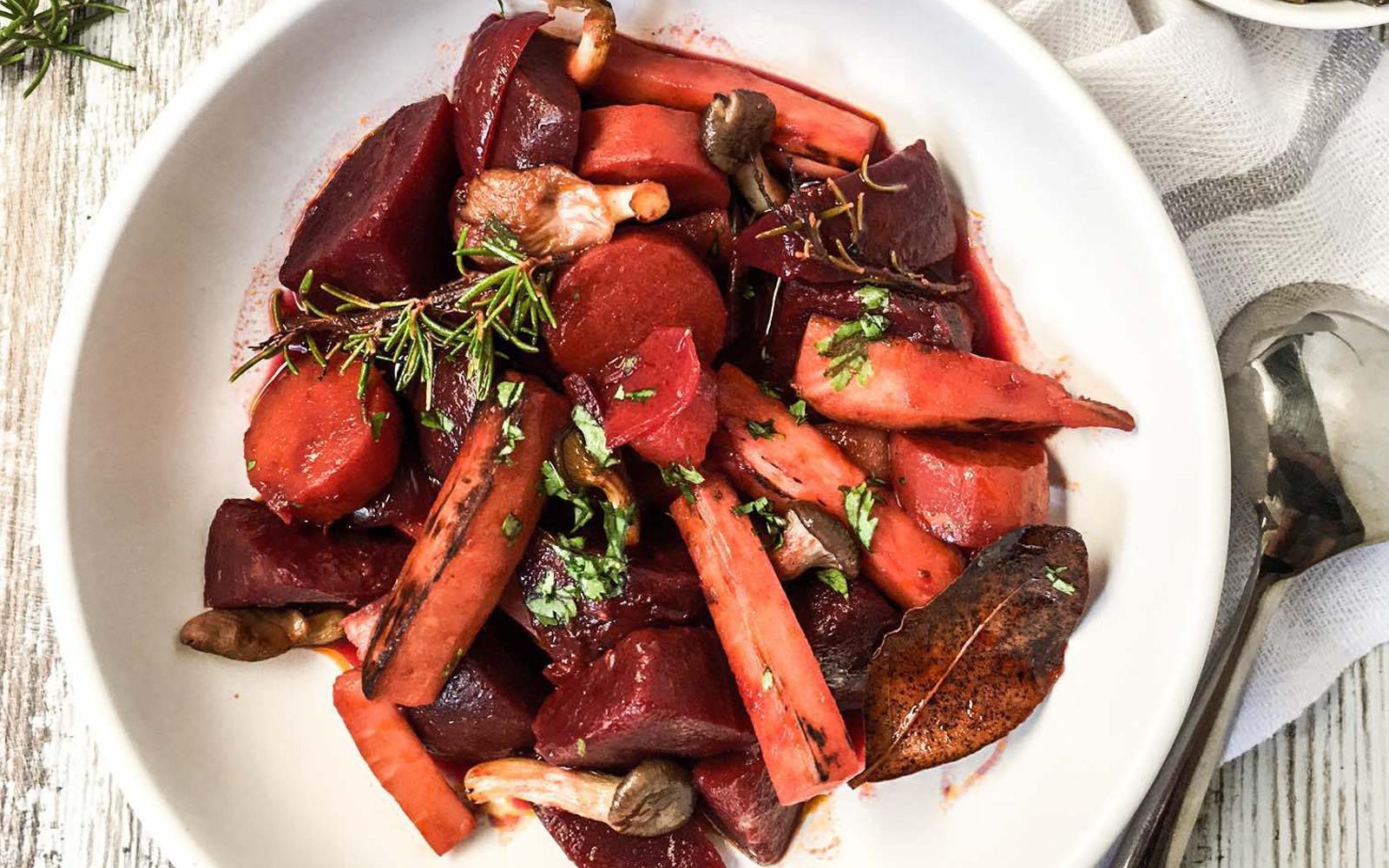Red Wine Root Vegetables Stew [Vegan, Grain-Free] | One ...