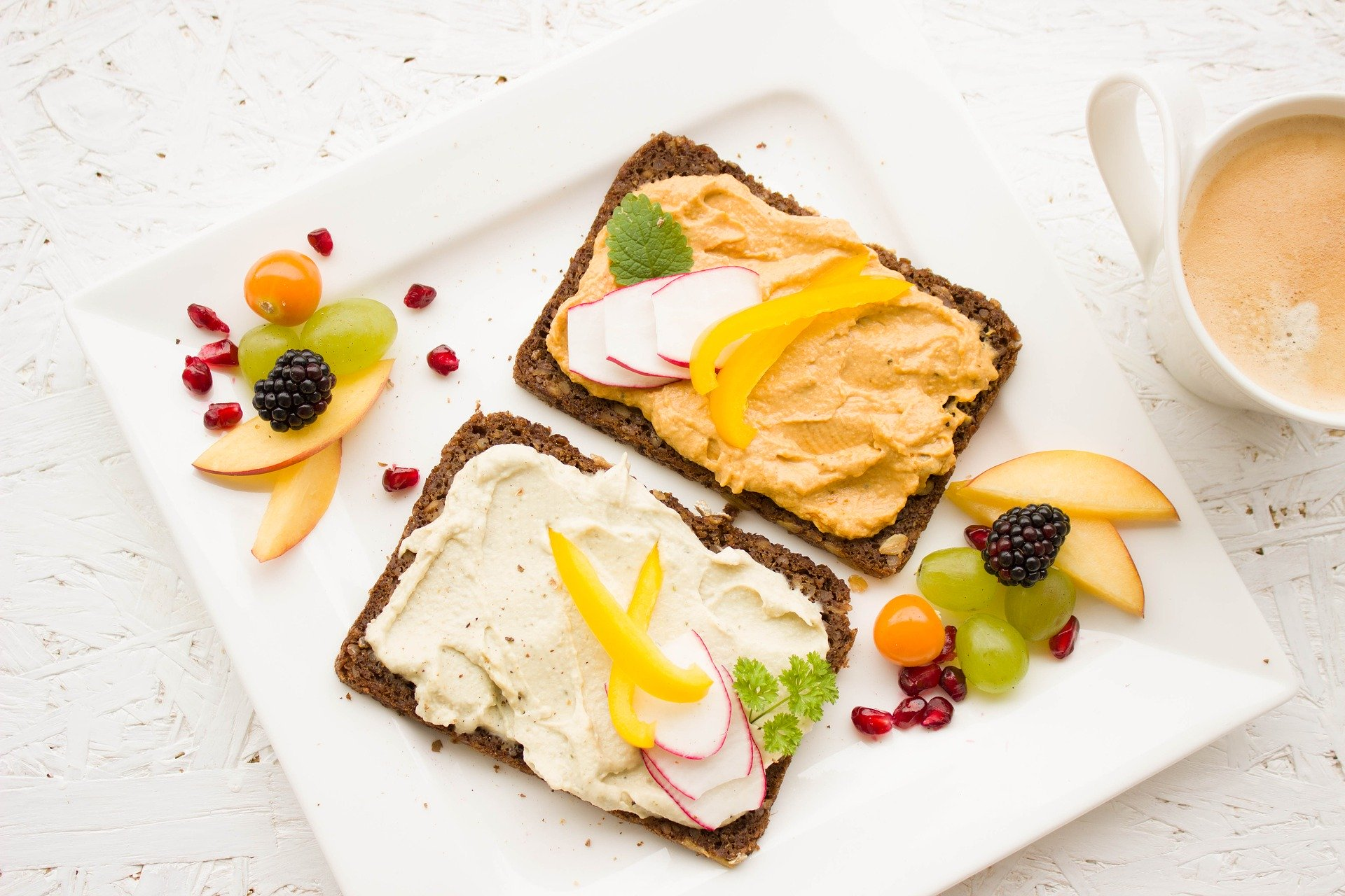 toast with spread