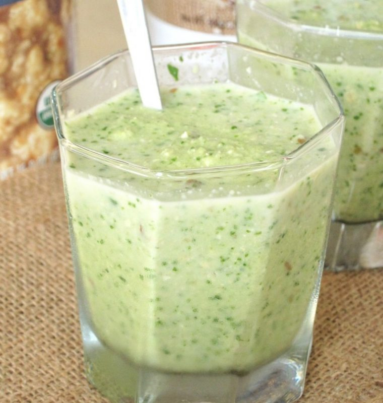 Vegan Apple Tahini Green Smoothie